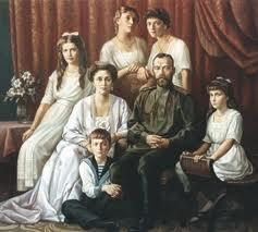 царь Николай II, царица Александра Федоровна, цесаревич Алексий, великие княжны Ольга, Татьяна, Мария и Анастасия